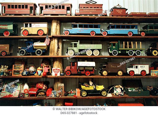 Model car display at North Carolina Auto Racing Hall of Fame. Mooresville. North Carolina, USA