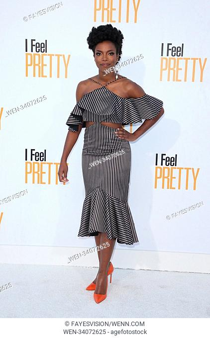 "Premiere Of STX Films' """"I Feel Pretty"""" Featuring: Sasheer Zamata Where: Westwood, California, United States When: 17 Apr 2018 Credit: FayesVision/WENN"