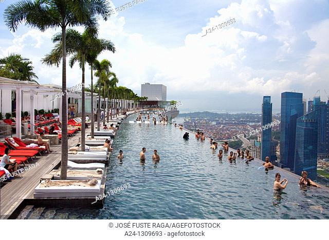 Singapore City, Marina Bay Hotel , the Pool
