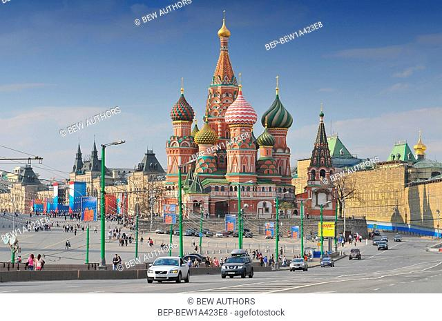Russia, Moscow, Saint Basil's Cathedral, Red Square