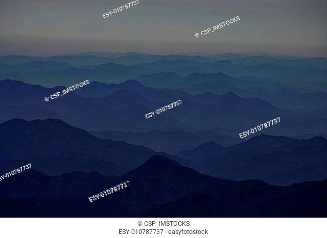 Beautiful winter mountains in south korea,Deogyusan