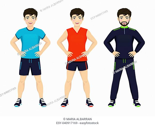 Man playing sport with different sportswear