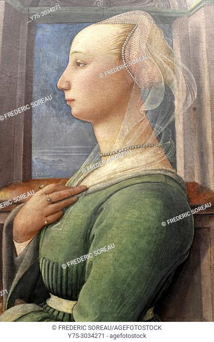 Portrait of a woman by Fra Filippo Lippi, Gemaldegalerie, Berlin, Germany