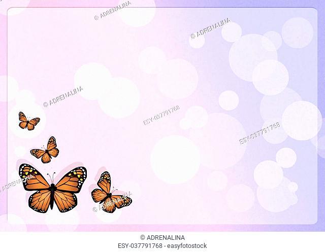 illustration of monarch butterflies