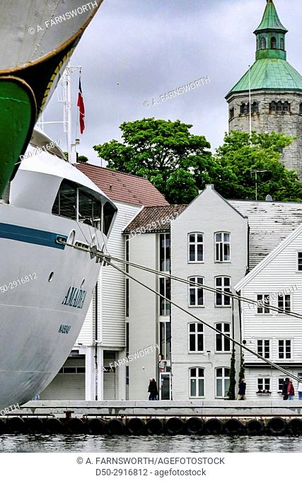STAVANGER, NORWAY Cruise ship in harbour