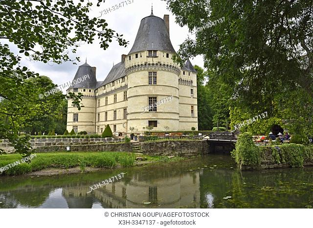 Chateau de l'Islette (XVIe, Renaissance francaise) situé au bord de l'Indre a Azay-le-Rideau, departement Indre-et-Loire, region Centre-Val de Loire, France