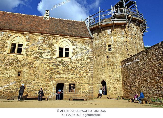 Castle of Guédelon, medieval construction project, Treigny, France