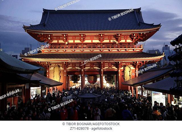 Japan, Tokyo, Asakusa, Senso-ji Temple, Hozo-mon Gate