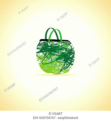 creative hand bag green color