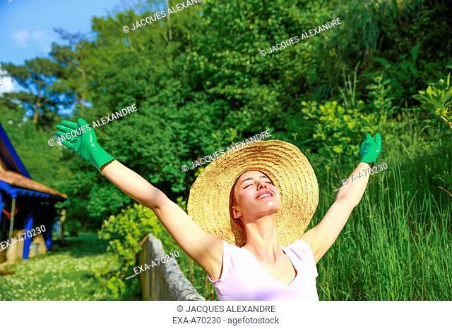 Woman at gardening