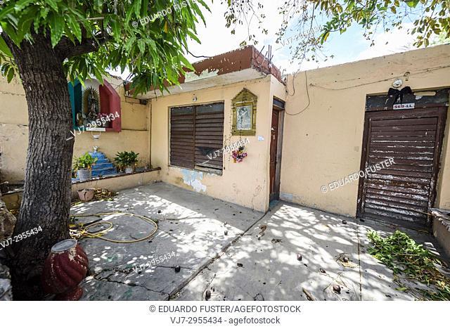 Typical buildings in the historic center, Merida, Riviera Maya, Yucatan Province, Mexico, Central America