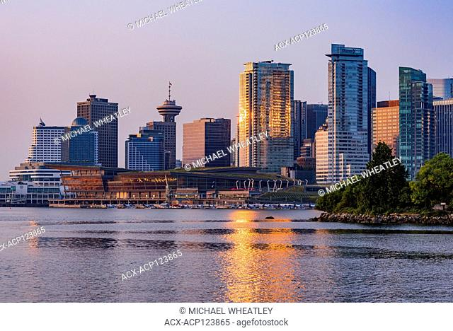 Downtown Vancouver skyline, Coal Harbour, Vancouver, British Columbia, Canada