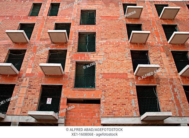 residential building under construction, Vilanova i la Geltru, Catalonia, Spain