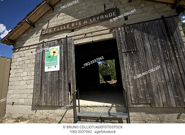 distillery of Puteaux. old distillery in activity, the Faurie. the drôme, france