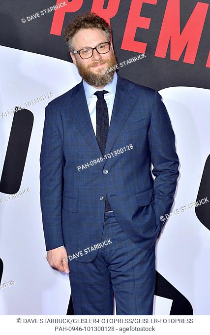Seth Rogen attending the 'Blockers' premiere at Regency Village Theater on April 3, 2018 in Los Angeles, California. | Verwendung weltweit