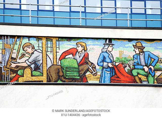 Mural in Huddersfield Town Centre West Yorkshire England