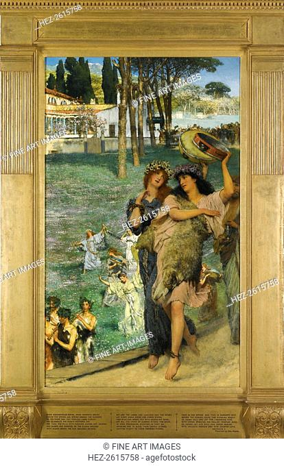 A spring festival (On the road to the Temple of Ceres). Artist: Alma-Tadema, Sir Lawrence (1836-1912)