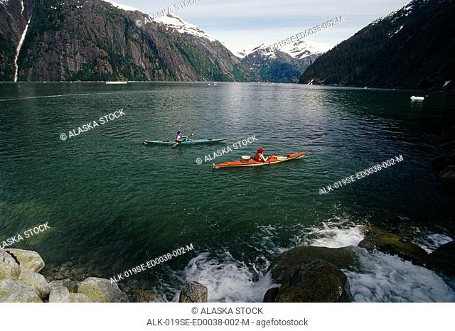 Sea Kayakers in Tracy Arm Fords Terror Wilderness AK SE Summer