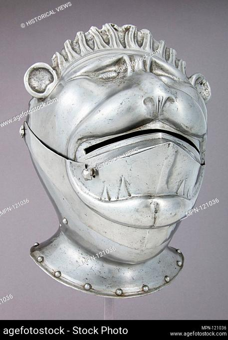 Armet. Date: ca. 1535; Culture: German; Medium: Steel; Dimensions: H. 12 3/4 in. (32.4 cm); W. 9 5/8 in. (24.5 cm); D. 12 1/2 in. (31.8 cm); Wt. 6 lb