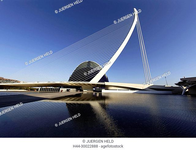 Agora, Puente de l Assut, bridge, City of sciences, Calatrava, Valencia, Spain