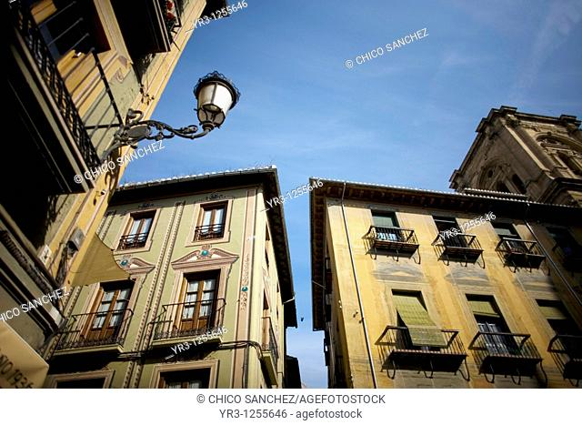 Colonial houses in Granada, Andalusia, Spain