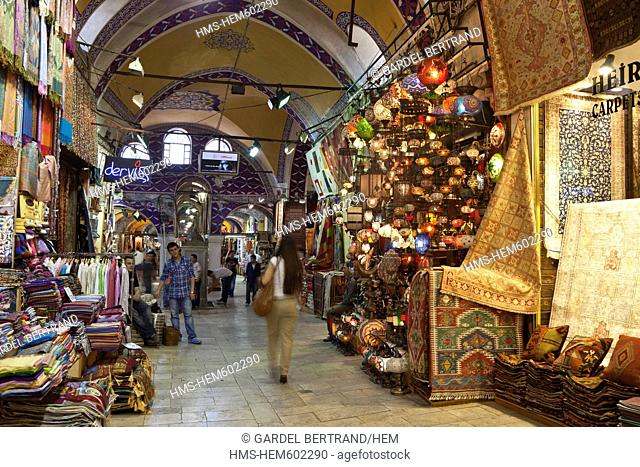 Turkey, Istanbul, historical centre listed as World Heritage by UNESCO, Sultanahmet district, Grand Bazaar, or Kapali Carsi