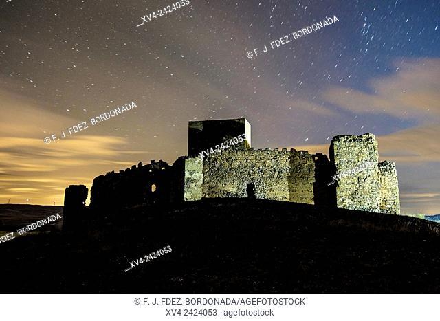 Trasmoz castle on Hill top. Tarazona and Moncayo region, Ebro Valley, Aragon, Spain
