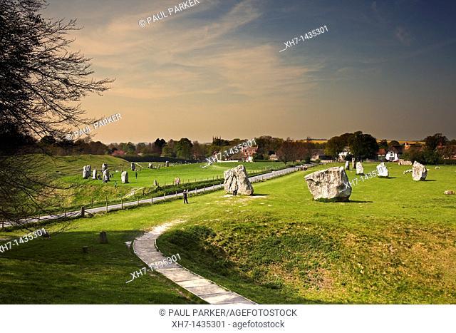 Avebury Stone Neolithic Stone Circle, Avebury, Wiltshire, England, UK