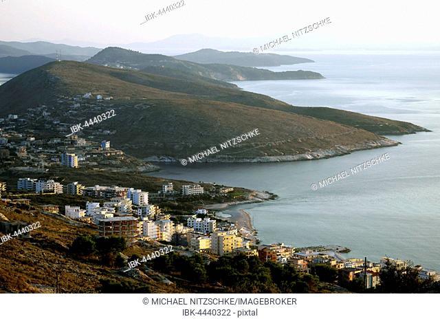 Hills on coastline, Sarandë, Vlorë County, Albania