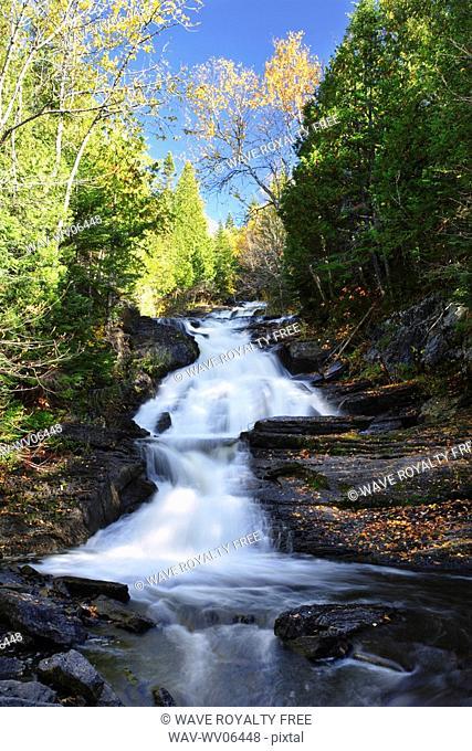 View of Sutherland Falls, Bas-Saint-Laurent region, Quebec