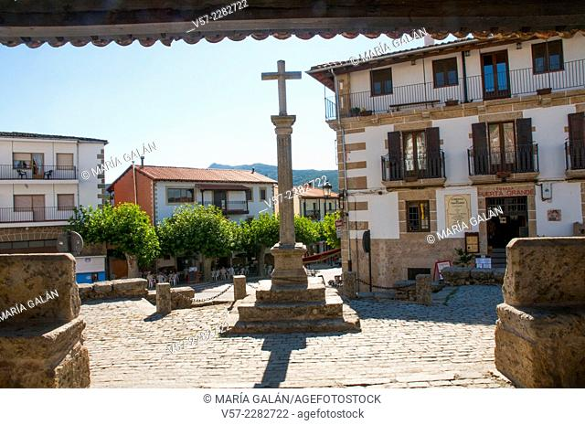 Stone cross. Candelario, Salamanca province, Castilla Leon, Spain