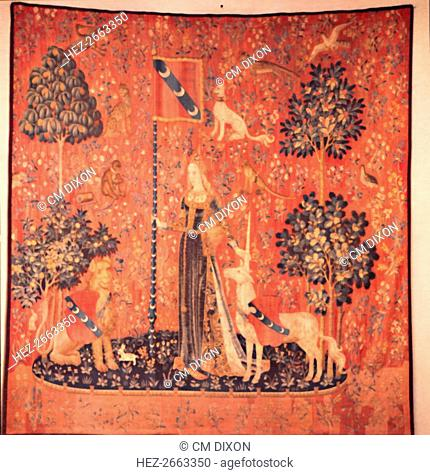 'La Dame a la Licorne' Tapestry Series, Brussels c1480. Artist: Unknown