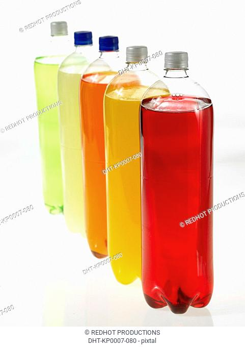 Row of colourful Bottled Drinks