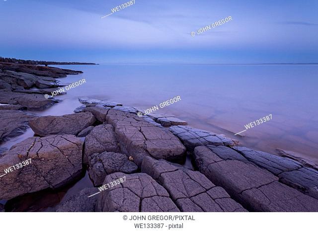 Stoney Point At Sunset, Lake Superior