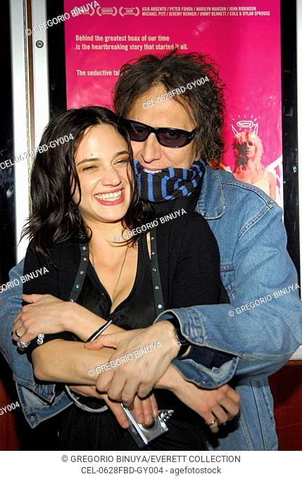 Asia Argento, Mick Rock at arrivals for THE HEART IS DECEITFUL ABOVE ALL THINGS Premiere, Loews E-Walk and AMC Empire 25 Theaters, New York, NY, Tuesday