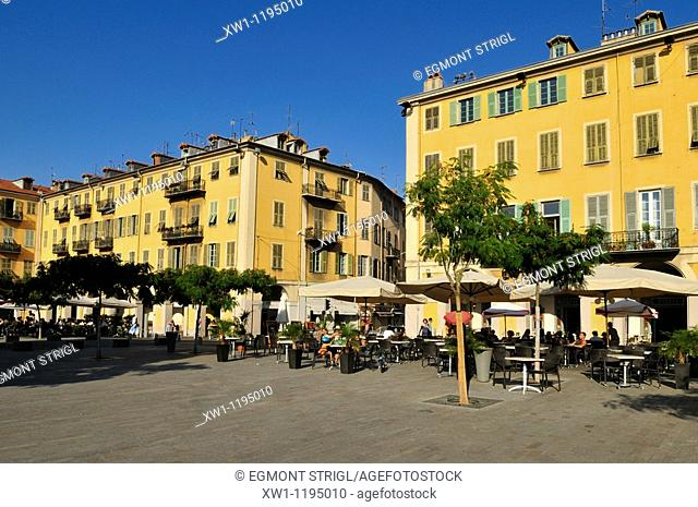 Place Garibaldi in the oldtown of Nice, Nizza, Cote d'Azur, Alpes Maritimes, Provence, France, Europe