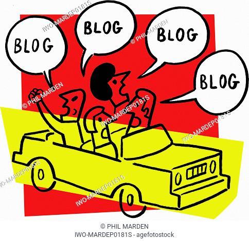 Four People Speaking in Blog