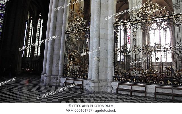 PAN. Interior: View from the east side of the North Aisle to the Sanctuary and the High Altar. The Cathedral is in the High Gothic or Classical French style