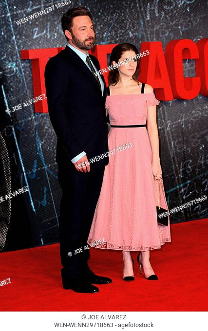 Celebrities attend the European Premiere for 'The Accountant' at Cineworld Empire, Leicester Square in London Featuring: Ben Affleck