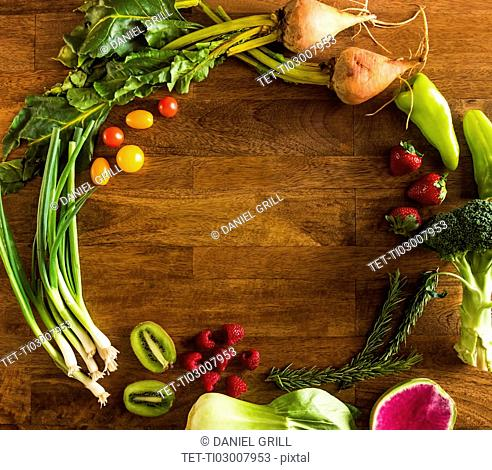 Fruit, vegetables and herbs