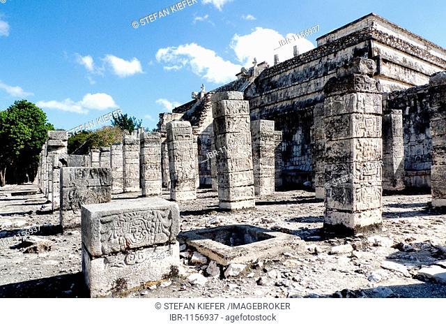 Group of a Thousand Columns, in Chichen Itza, Yucatan, Mexico, Central America