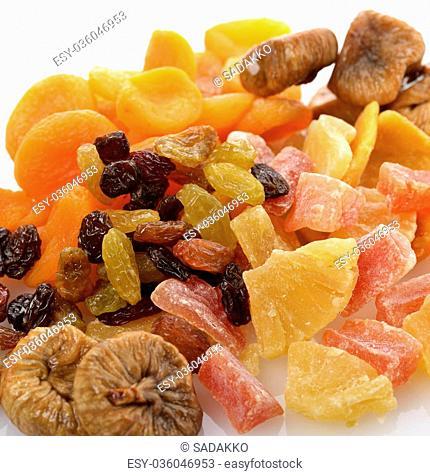 Dried Tropical Fruits Mix ,Close Up