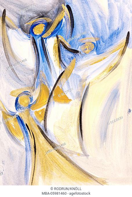 Gisela Oberst, Three angels, artist Gisela Oberst