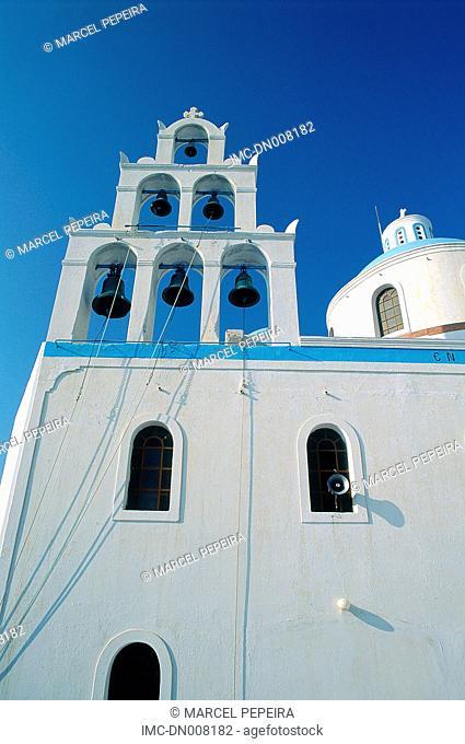Greece, Cyclades, Santorini, bell tower