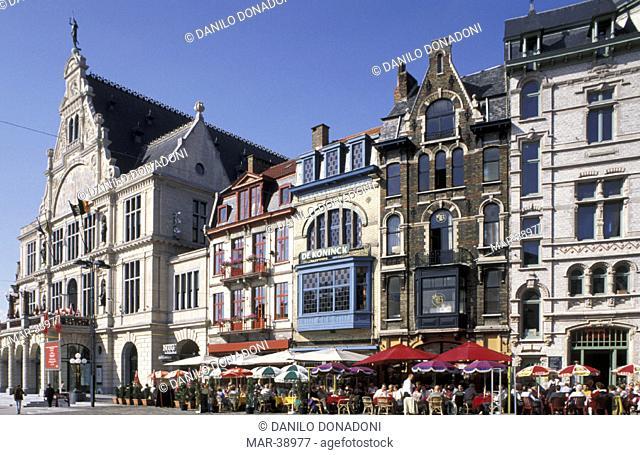 buildings in sint baafsplein, gand, belgium