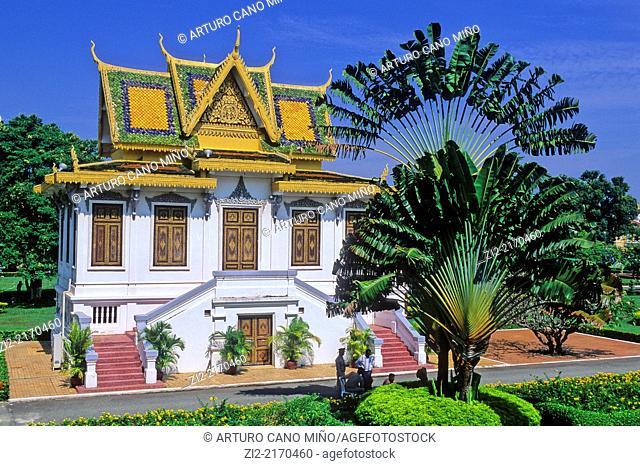 Hor Samran Phirun is the rest house, Royal Palace 1860. Phnom Penh, Cambodia