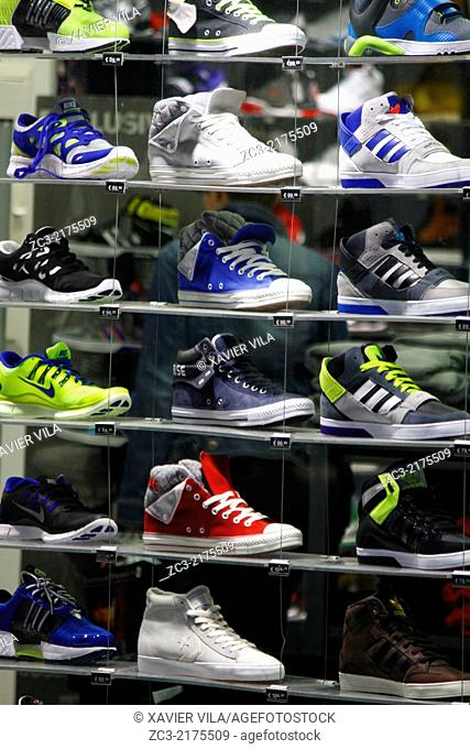 shoes store, Grenoble, Isere, Rhone Alpes, France