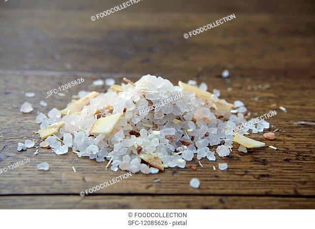 A pile of coconut & lemongrass salt