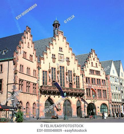 Römer (old Town Hall) at Römerberg. Frankfurt am Main. Germany