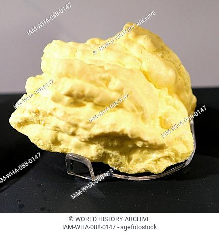 Sample of Sulfur, a chemical element. Dated 20th Century